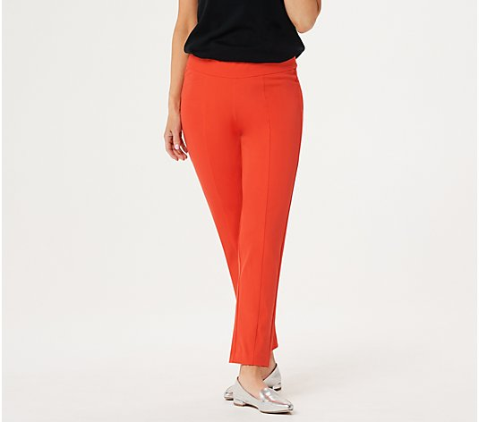 Isaac Mizrahi Live! Petite 24/7 Stretch Wide Waistband Ankle Pants