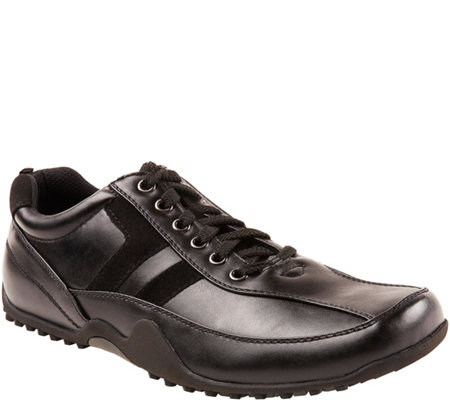 Deer Stags Men's Slip and Oil Resistant Oxfords- Donald