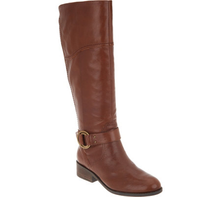 As Is Marc Fisher Wide Calf Leather Riding Boots Gatway