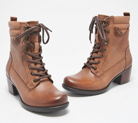 Earth Leather Lace-Up Mid Boots - Denali Anchor