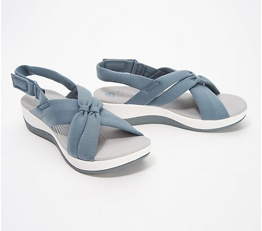 """As Is"" CLOUDSTEPPERS by Clarks Jersey Sandals- Arla Belle"