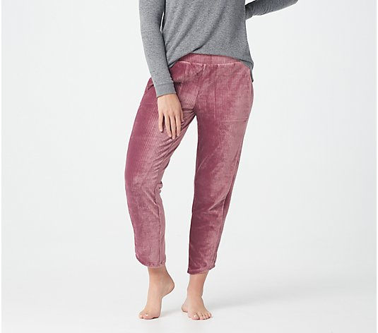 """As Is"" AnyBody Ribbed Velour Tulip Hem Pants"