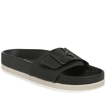 Dr Scholl S Leather Slide Sandals Laid Back