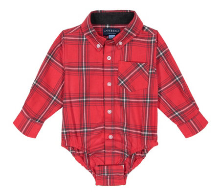 Andy & Evan Baby Boy's Long Sleeve Flannel Button Down