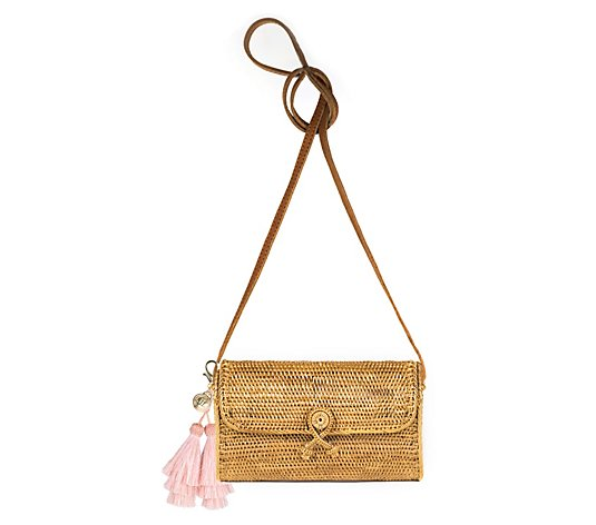 Lisi Lerch Straw Crossbody Bag - Karin