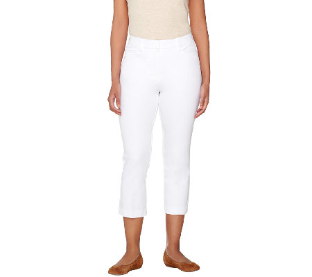 Isaac Mizrahi Live! Regular 24/7 Stretch Crop Pants