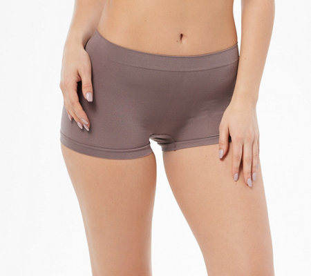 Breezies Set of 4 Seamless Boyshort Panties