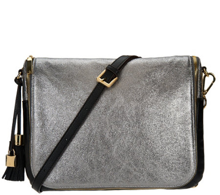 G.I.L.I. with HALOGUARD Leather Oversized RFID Crossbody