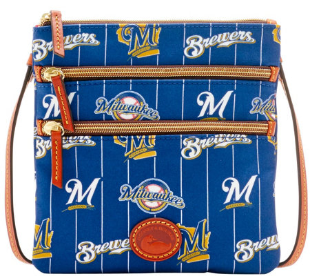 Dooney & Bourke MLB Nylon Brewers Triple Zip Crossbody