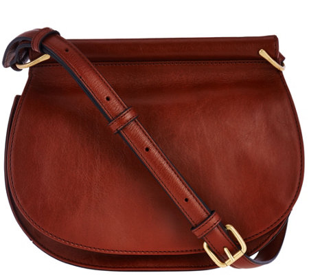 2e8958dbc5bc Vera Bradley Gallatin Leather Saddle Bag - Page 1 — QVC.com
