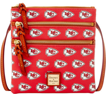 Dooney & Bourke NFL Chiefs Triple Zip Crossbody