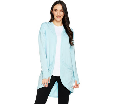AnyBody Loungewear Cozy Knit Drape Front Jacket