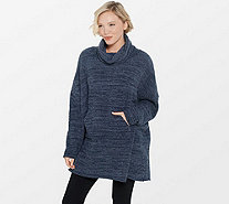 Barefoot Dreams Cozychic Funnel Neck Pullover - A293848
