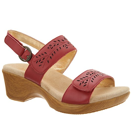 Alegria Leather Adjustable Double Strap Sandals - Romi