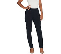 Susan Graver Petite Premium Stretch Pull-On Ankle Pants - A308248