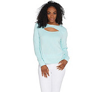 Tracy Anderson for G.I.L.I. Baby Terry Keyhole Top - A309748