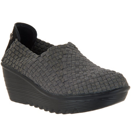 Bernie Mev Basket Weave Wedges Gem