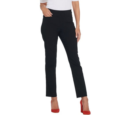 Belle By Kim Gravel Citi Twill Slim Leg Pants