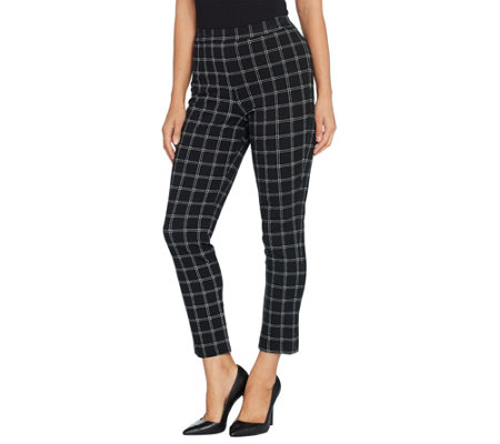 Joan Rivers Signature Printed Pull-On Ankle Pants