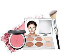 IT Cosmetics You Sculpted & Bye Bye Pores Blush w/ Brush Auto-Delivery - A343948