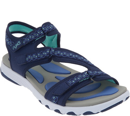 As Is Ryka Adjustable Sport Sandals Ginger