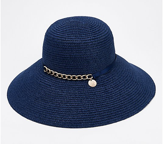 """As Is"" Physician Endorsed Vivi Sunhat with Chain Detail"