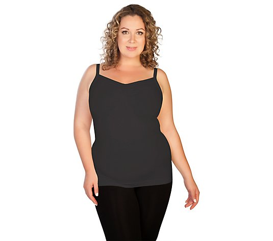 skinnytees Plus Ruched Front Tank