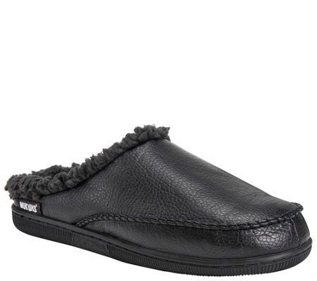 Muk Luks Men S Faux Leather Clog Slippers