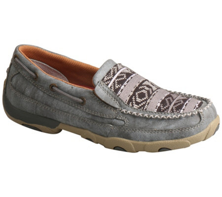 Twisted X Women's Slip-On Leather Boat Shoe Moccasins