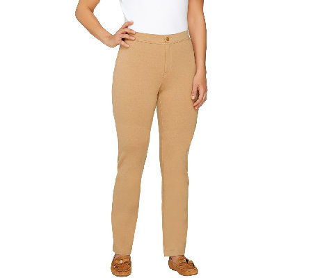 Isaac Mizrahi Live! Regular Ponte Knit Straight Pants