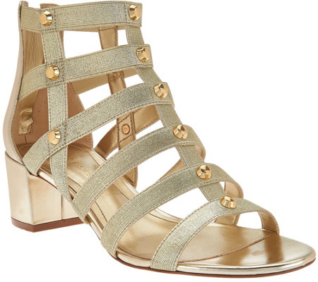 Marc Fisher Gladiator Block Heel Sandals - Julee