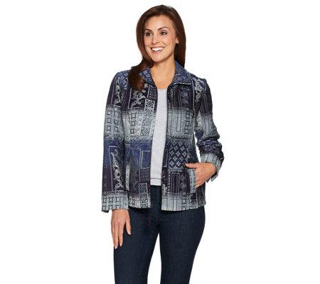 Susan Graver Tapestry Zip Front Jacket