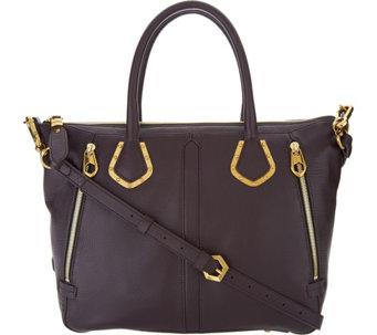 Oryany Pebble Leather Satchel Handbag Nicole A295149