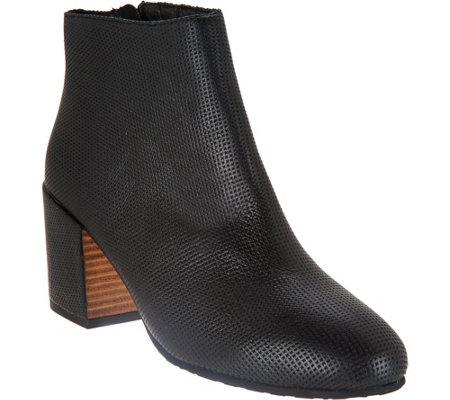 Gentle Souls Leather Block Heel Ankle Boots - Blaise 2