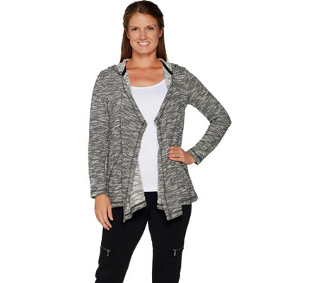 Susan Graver Weekend Space Dye Knit Cardigan
