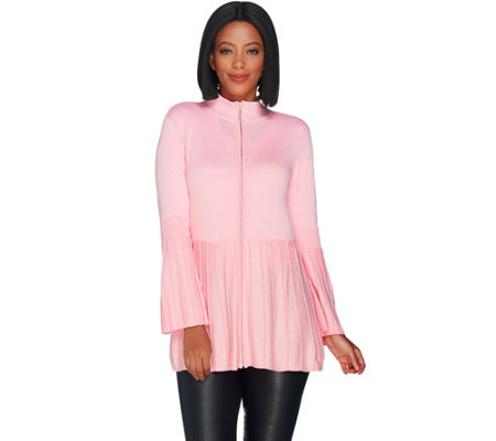 H by Halston Bell Sleeve Sweater Cardigan