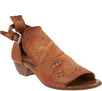 Miz Mooz Leather Detailed Sandals - Carey - A304349