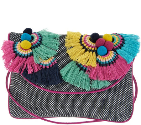 Vince Camuto Canvas Clutch -Witan
