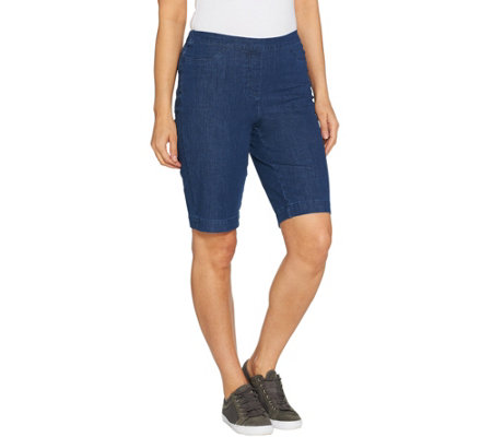 Isaac Mizrahi Live! Regular 24/7 Denim Bermuda Shorts