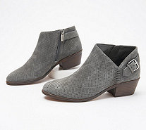 Vince Camuto Suede Booties with Buckle Detail - Parveen - A311049