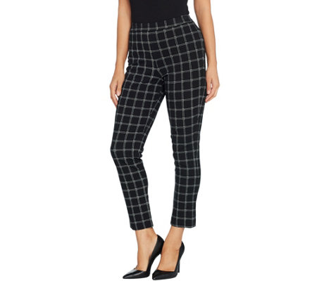 Joan Rivers Regular Length Signature Printed Pull-On Ankle Pants