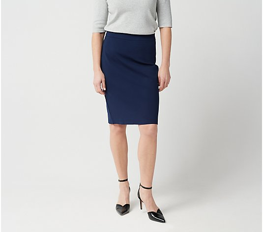 Linea by Louis Dell'Olio Super Ponte Knit Pull-On Skirt