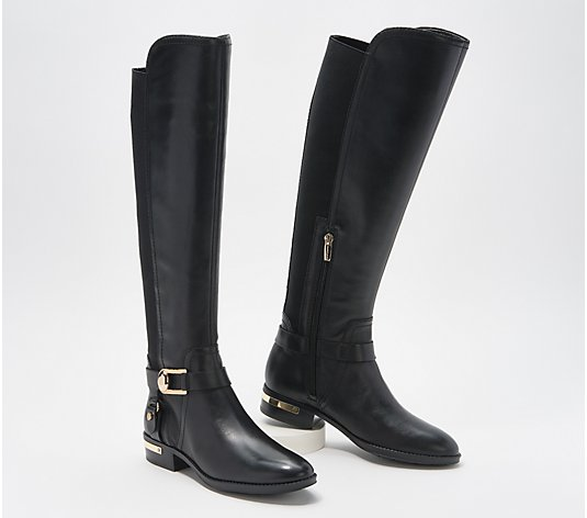 Vince Camuto Leather Medium Calf Tall Shaft Boots - Pearly