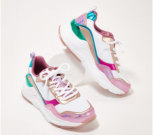 Skechers Rovina Lace Up Sneakers - Mermaid Vibes