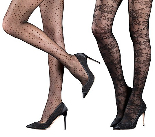 Linea Body Sheer Swiss Dot Tights - 2 Pack
