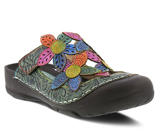 L'Artiste By Spring Step Leather Clogs - Kalria