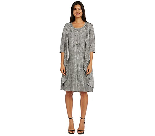 R&M Richards Shift Dress and Draped Cardigan Duo