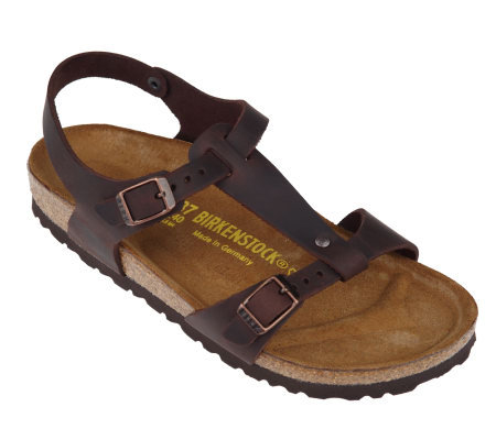 cf9c87403c4 Birkenstock Oiled Leather T-Strap Sandals with Ankle Strap - Page 1 ...