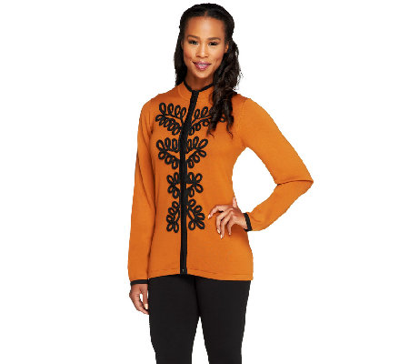Bob Mackie's Soutache Embroidered Cardigan