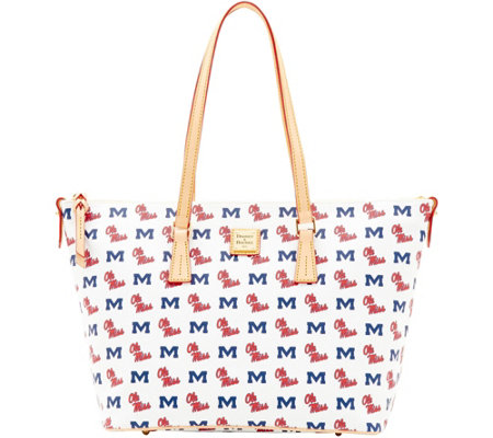 Dooney & Bourke NCAA Ole Miss University Zip Top Shopper